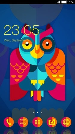 Designer Owl CLauncher Android Theme Image 1
