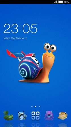 Snail CLauncher Android Theme Image 1