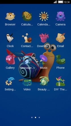 Snail CLauncher Android Theme Image 2