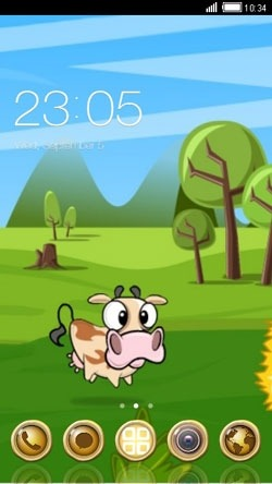 Funny Cow CLauncher Android Theme Image 1