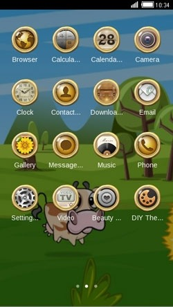 Funny Cow CLauncher Android Theme Image 2