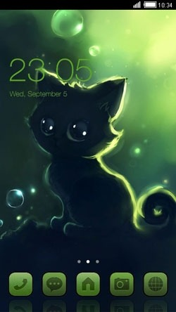 Kitten CLauncher Android Theme Image 1