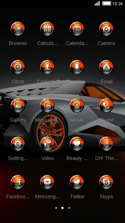 Sports Car CLauncher Android Theme Image 2