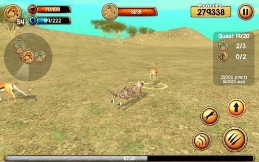 Wild Cheetah Sim 3D Android Game Image 1