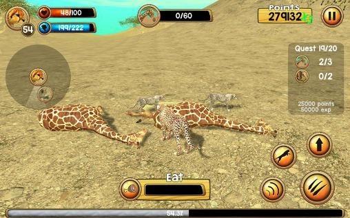 Wild Cheetah Sim 3D Android Game Image 2