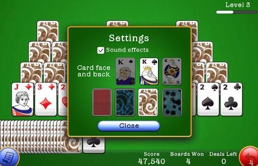 Classic Tri Peaks Solitaire Android Game Image 2