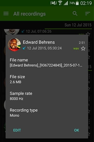Call Recorder Android Application Image 2