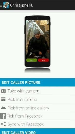 Full Screen Caller ID Android Application Image 1