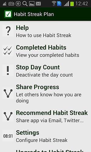 Habit Streak Plan Android Application Image 1