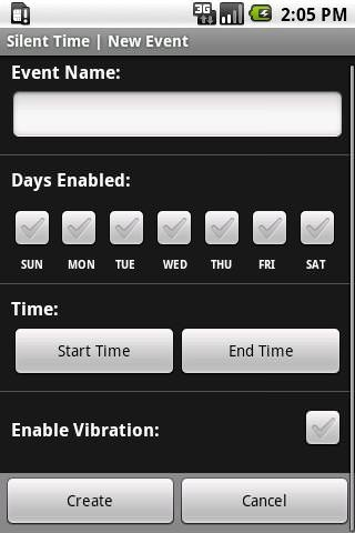 Silent Time Android Application Image 1