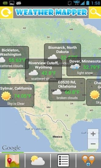 Weather Mapper Android Application Image 1