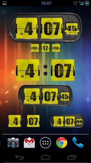 Animated Flip Clock 3D Android Application Image 2