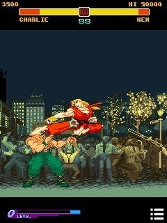 Street Fighter: Alpha Warriors' Dreams Java Game Image 1