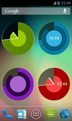 Holo Clock Widget Android Application Image 2