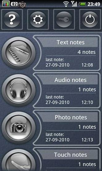 Pocket Note Android Application Image 1
