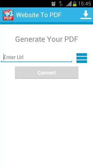 Website To PDF Android Application Image 1