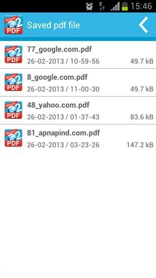 Website To PDF Android Application Image 2