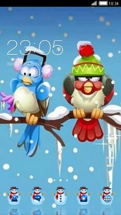 Winter Snow CLauncher Android Theme Image 1