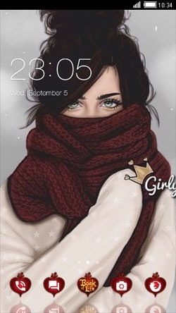 Cold Winter CLauncher Android Theme Image 1