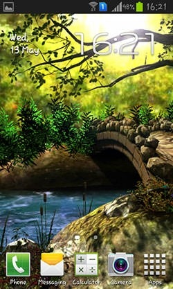 Fantasy Forest 3D Android Wallpaper Image 1