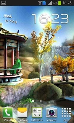 Oriental Garden 3D Android Wallpaper Image 1