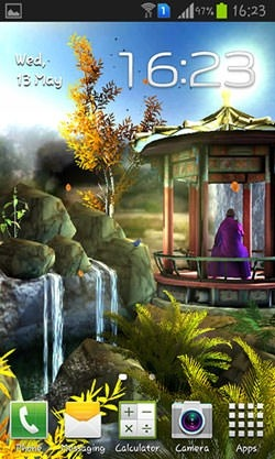 Oriental Garden 3D Android Wallpaper Image 2
