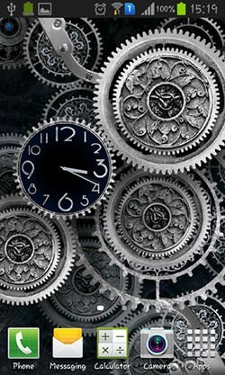 Black Clock Android Wallpaper Image 1
