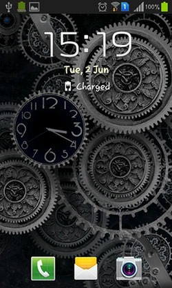 Black Clock Android Wallpaper Image 2