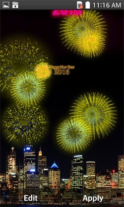 New Year Fireworks 2016 Android Wallpaper Image 2
