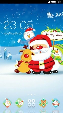 Merry Christmas CLauncher Android Theme Image 1