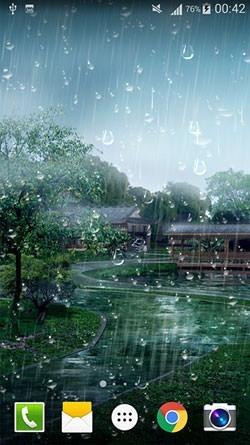 Raindrop Android Wallpaper Image 1