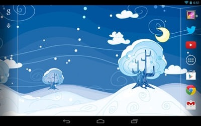 Siberian Night Android Wallpaper Image 1