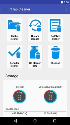 1 Tap Cache Cleaner Android Application Image 1