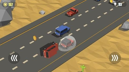 Blocky Cars: Traffic Rush Android Game Image 1