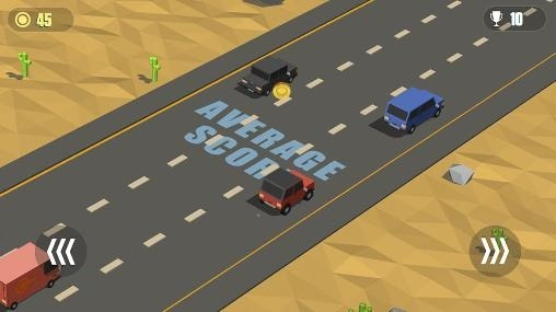 Blocky Cars: Traffic Rush Android Game Image 2