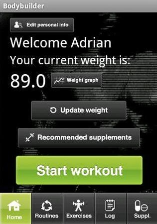 Bodybuilder Android Application Image 1