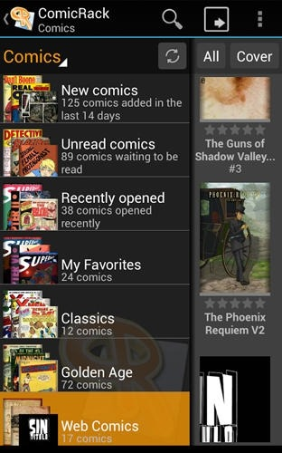 Comic Rack Android Application Image 1