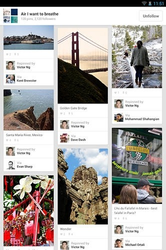 Pinterest Android Application Image 1