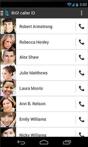 Big Caller ID Android Application Image 1