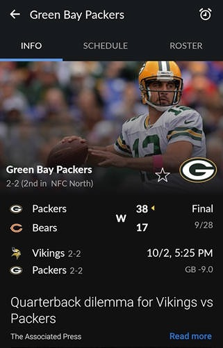 Yahoo! Sportacular Android Application Image 1