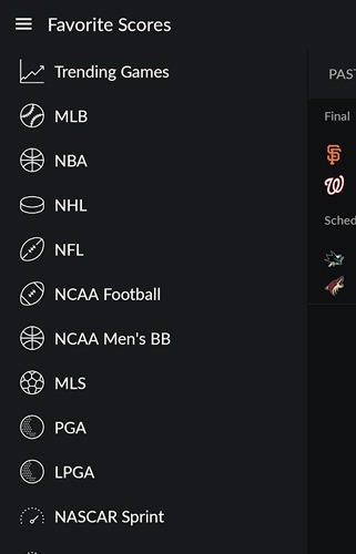 Yahoo! Sportacular Android Application Image 2