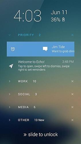 Echo Lockscreen Android Application Image 2