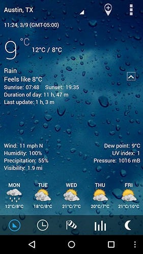 Sense V2 Flip Clock And Weather Android Application Image 1