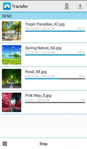 Send Anywhere: File Transfer Android Application Image 2