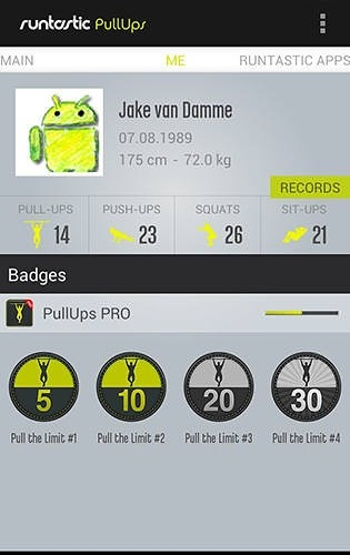 Runtastic: Pull-ups Android Application Image 1