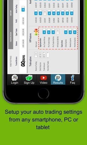Binary Options Robot Android Application Image 2