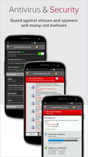 McAfee: Mobile Security Android Application Image 1