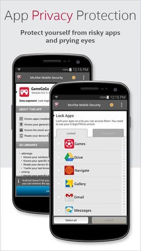 McAfee: Mobile Security Android Application Image 2