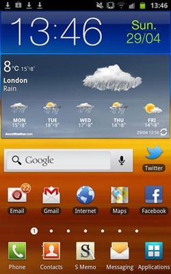Accu Weather Android Application Image 1
