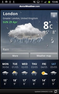 Accu Weather Android Application Image 2